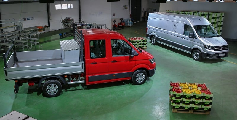 New VW Crafter flatbed and panel van